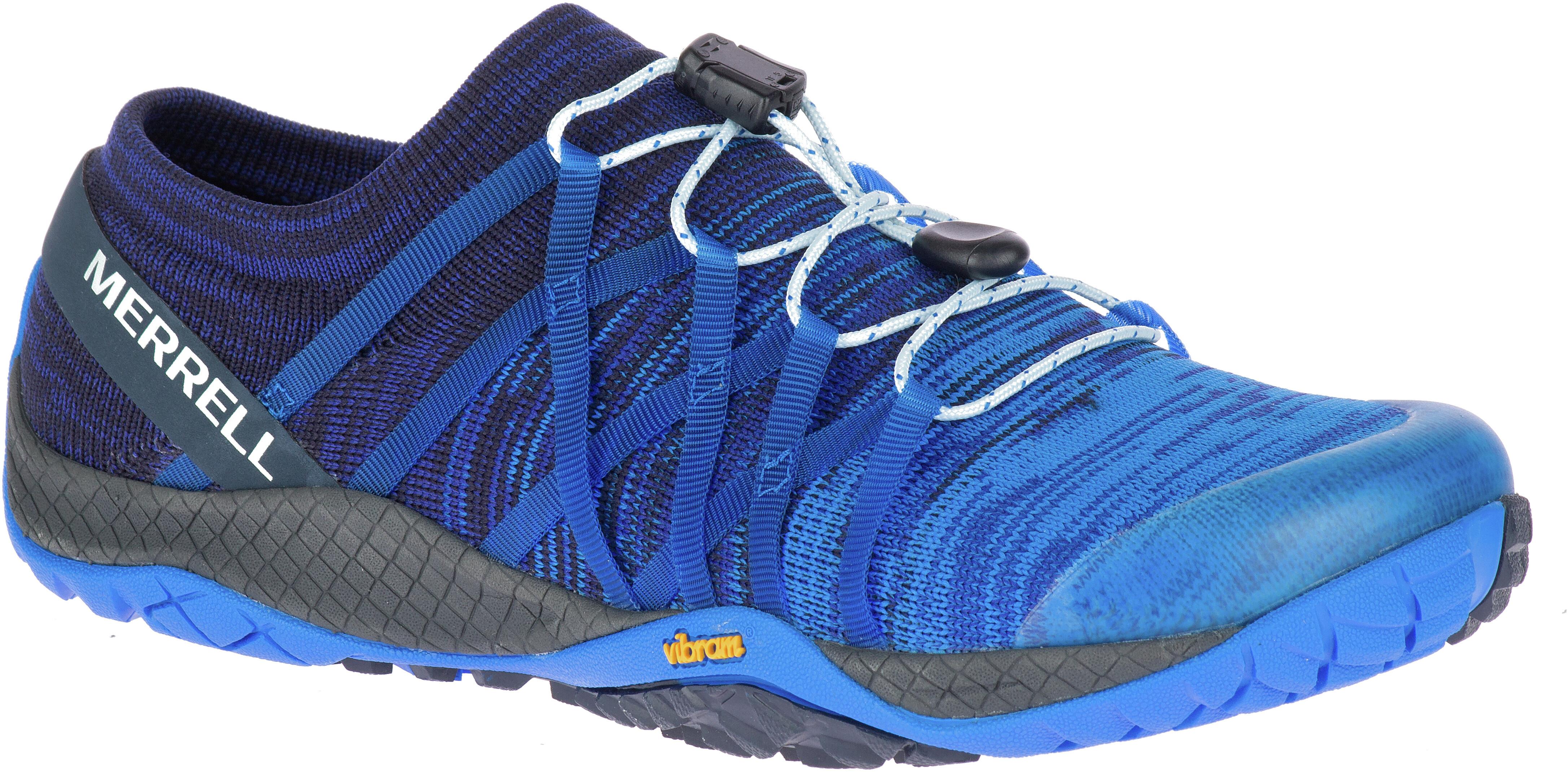 best service 4fea5 17891 Merrell Trail Glove 4 Knit Shoes Women blue sport